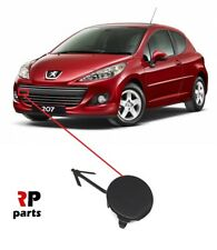 FOR PEUGEOT 207 2009-2012 FRONT BUMPER TOW EYE COVER CAP BLACK