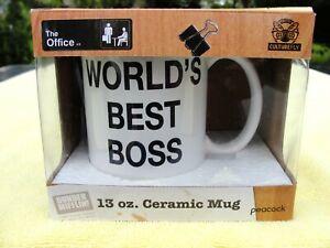 World's Best Boss Coffee Mug (The Office, Dunder Mifflin) Large 13 oz. Gift Box
