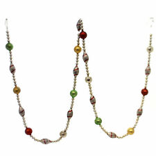 Christmas Candy Stripe Glass Garland Glass Red Green Gold Glass Sn5839