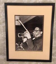 Vtg Dizzy Gillespie Photo Print Circa 1947 Framed COA from Mark Reuben Gallery
