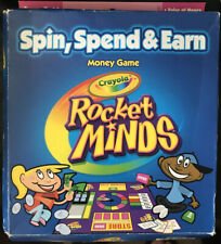 Crayola Money Game Rocket Minds Spin Spend Earn Board Game Educational Math