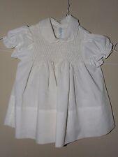Little Angel 6M 9M Smocked White Dress Baptism Christening Vintage Embroidered