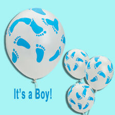 (25) Latex Blue Baby Boy Feet Balloons Baby Shower Party Favors Decor It's a Boy