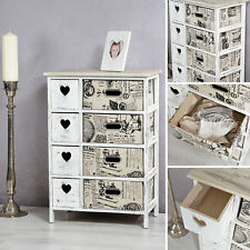 Shabby Chic Sideboard mit Korbschubladen Schrank Regal Kommode Highboard Diele