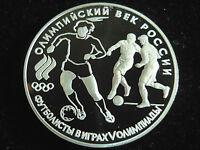 Russland, 3 Rubel, 1993, 100 J. Olymp.-Spiele der Neuzeit, Silber.! orig.! PP.!
