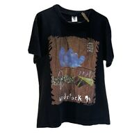 Woodstock 1994 Vintage Black T Shirt - 90s Single Stitch EM Tag Size XL