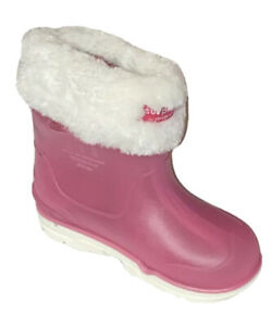 Toddler Girls Size 9M Surprize by Stride Rite Conquer Slip-On Rain Boots Pink