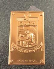 "Genuine Bach Stradivarius Stamped Badge, Bronze finish 1-1/2"" x 2-5/16"" *NEW*"