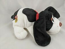 "Pound Puppies Dog Plush 12"" Black White 2007 Stuffed Animal"