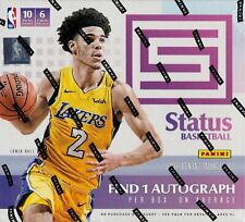 2017-18 Panini Status Basketball sealed hobby box 10 packs of 6 NBA cards 1 auto
