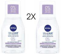 2X Nivea Micellar Water Sensitive Skin 3in1 Makeup Remover 2 x100ml