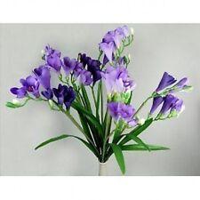 Bouquet of 12 Lilac / Lavender colour Artificial Silk Freesia Stems