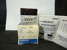 NEW OMRON H5CN-XDN DIGITAL TIMER DIN (48x48mm) 1 min. to 99h59m 100-240VAC
