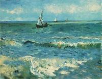 Dream-art Oil painting Vincent Van Gogh - Seascape at Saintes-Maries art canvas