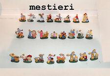 presepe 24 mestieri pastori 4 cm  s. gregorio armeno napoli plastica shepherds