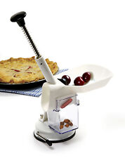 Norpro 5121 Deluxe Cherry Olive Pitter Stoner Seed Remover With Suction Base