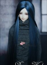 Bjd Doll Parrucca 1/4 7-8 SD MSD AOD DZ LUTS Dollfie Doll BLUE Toy Head Hair