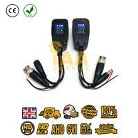 CCTV Passive Video Balun Power PTZ HD-TVI/CVI/AHD/CVBS 1 Pair BNC to CAT5 RJ45