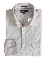 J.Crew Men's Slim Fit - NWT Safari Fatigue Beige Slub Poplin Spread Collar Shirt