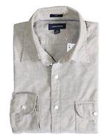 J.Crew Men's Slim Fit - NWT Safari Fatigue Beige Slub Poplin Spread Collar Shirt