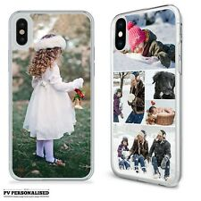 PERSONALISED PHONE CASE COVER ONE PHOTO COLLAGE PLASTIC APPLE IPHONE X XS XR 11