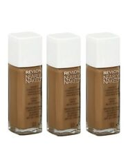 LOT OF 3 - Revlon Nearly Naked Liquid makeup # 210 Sun Beige. spf 20 New