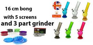 Small Bong Acrylic Bong Mini Water Shisha Pipe In various Colours Bong 5 screen