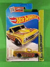 Hot Wheels - '67 Chevy C10 (Yellow w/ Flames)