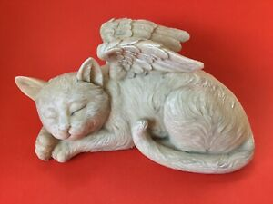 Toscano Cat Angel Pet Memorial Grave Marker Polyresin Tribute Statue