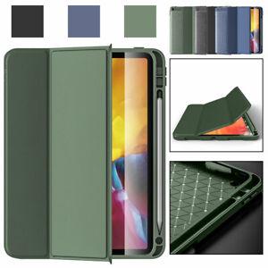 "For Apple iPad 8th Generation 10.2"" Folio Leather TPU Smart Stand Case Pen Slot"