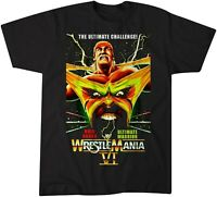 WWF WWE Wrestling Wrestle Mania 6 Hulk Hogan Black Men S-234XL M1477