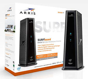 ARRIS SURFboard SBG8300 DOCSIS 3.1 Gigabit Cable Modem & AC2350 Dual Band Wi-Fi