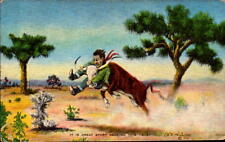 Postcard It Is Great Sport Necking This Baby L.H. Dude Larsen 1941