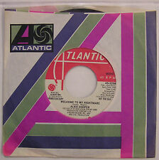 Alice Cooper Welcome To My Nightmare USA 1975 Promo 45 With Mono & Stereo Vers.