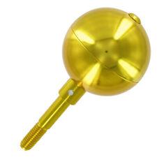 "3"" Diameter FLAGPOLE BALL TOPPER ORNAMENT Gold Anodized Aluminum"