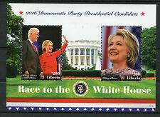 Liberia 2016 MNH Race to White House Hilary & Bill Clinton 2v S/S II Stamps