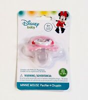 Disney Baby Minnie Mouse Pacifier BPA Free 0+ Months Pink Red Silicone Nipple