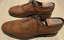 Worn 2x Excellent ALLEN EDMONDS Men's MCALLISTER Wing Tip Dress Shoes Walnut 8E