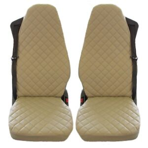 Volvo FH 3 FH 12 FH 16 Truck Seat Covers ECO LEATHER BEIGE 2 pieces