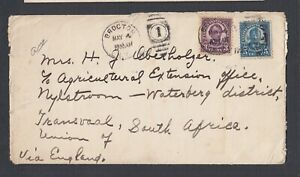 USA 1931 COVER BROCTON NEW YORK TO NYLSTROOM WATERBURG TRANSVAAL SOUTH AFRICA