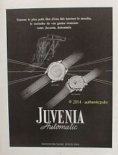 PUBLICITE JUVENIA AUTOMATIC MONTRE SUISSE MOULIN DE 1950 FRENCH AD WATCH ADVERT