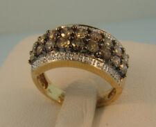 10K Gold Chocolate Diamond Ring-2.16 ctw