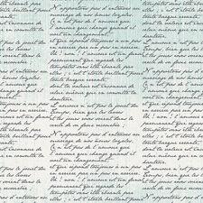 Art Gallery Frances Newcombe Cherie Telegrammes Ciel Script Fabric CHE-9807