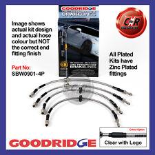 BMW 3 series E46 M3 Goodridge stainless braided brake hoses