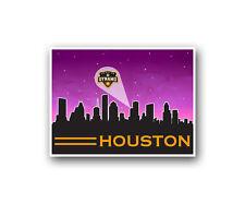 "Houston Dynamo Poster City Skyline Art Print Man Cave Decor 12x16"""