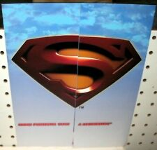 SUPERMAN RETURNS TRADING CARDS  - PROMOTIONAL SELL SHEET  11X17