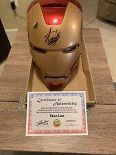 SIGNED BY STAN LEE IRON MAN HELMET REPLICA Marvel legends Series AVENGERS Statue