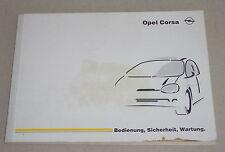 Manual de instrucciones de manual Opel Corsa B stand 07/1998