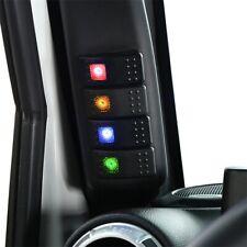 Jeep Wrangler JK 11-18 Left Hand Drive A Pillar Switch Pod Panel 4 LED Switch