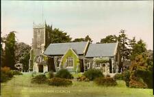 St. Mary Magdalene Church, Sandringham.  Vintage hand coloured postcard  QR28